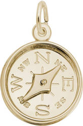 Compass w/ Needle Charm (Choose Metal) by Rembrandt