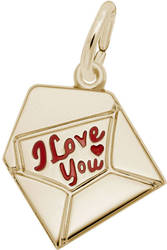 Red Enamel Love Letter Charm (Choose Metal) by Rembrandt