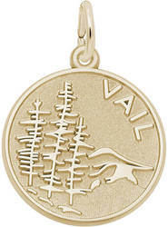 Vail Mountain Scene Charm (Choose Metal) by Rembrandt