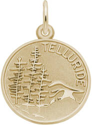 Telluride Mountain Scene Charm (Choose Metal) by Rembrandt