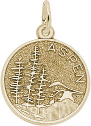 Aspen Mountain Scene Charm (Choose Metal) by Rembrandt