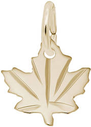 Classy Maple Leaf Charm (Choose Metal) by Rembrandt