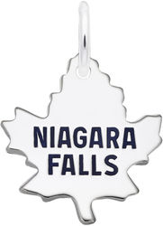 Medium Coined Niagara Falls Maple Leaf Charm (Choose Metal) by Rembrandt