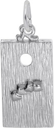 3D Corn Hole Game Charm (Choose Metal) by Rembrandt