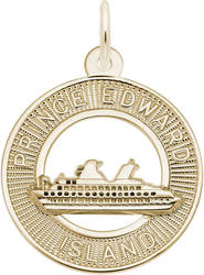 Prince Edward Island (PEI) Cruise Ship Charm (Choose Metal) by Rembrandt