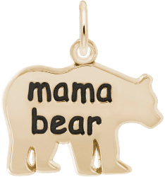 Mama Bear Charm (Choose Metal) by Rembrandt