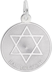 Bar Mitzvah w/ Star of David Charm (Choose Metal) by Rembrandt