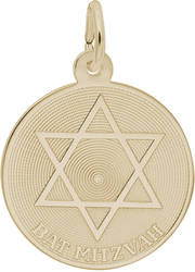 Bat Mitzvah w/ Star of David Charm (Choose Metal) by Rembrandt
