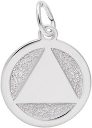 Alcoholics Anonymous (AA) Symbol Charm (Choose Metal) by Rembrandt