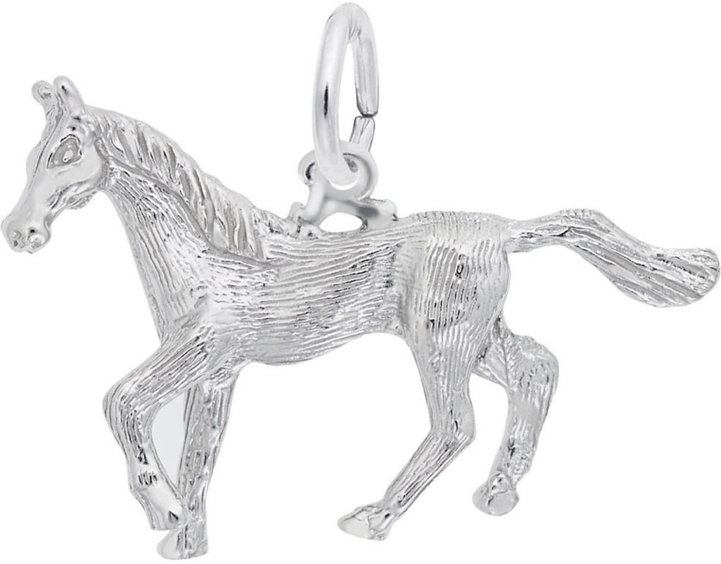 Trotting Horse Charm (Choose Metal) by Rembrandt