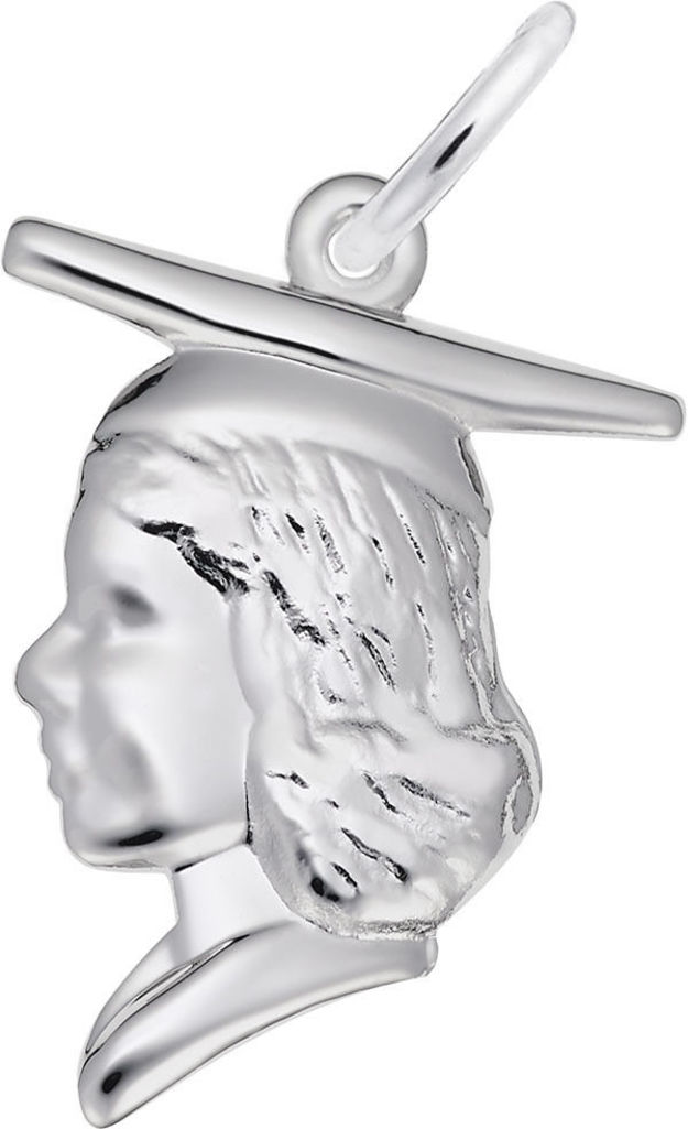 Female Graduate Head Charm (Choose Metal) by Rembrandt