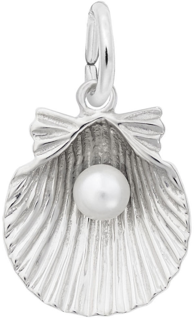 Shell With Simulated Pearl Charm (Choose Metal) by Rembrandt