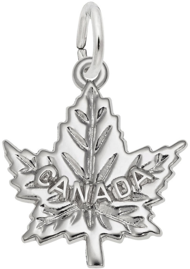 Canada Maple Leaf Charm (Choose Metal) by Rembrandt