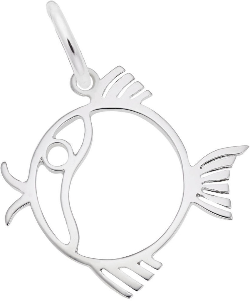 Flat Fish Charm (Choose Metal) by Rembrandt