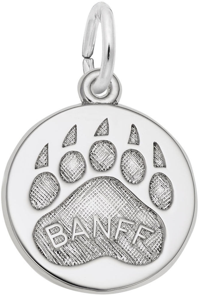Banff Paw Print Charm (Choose Metal) by Rembrandt