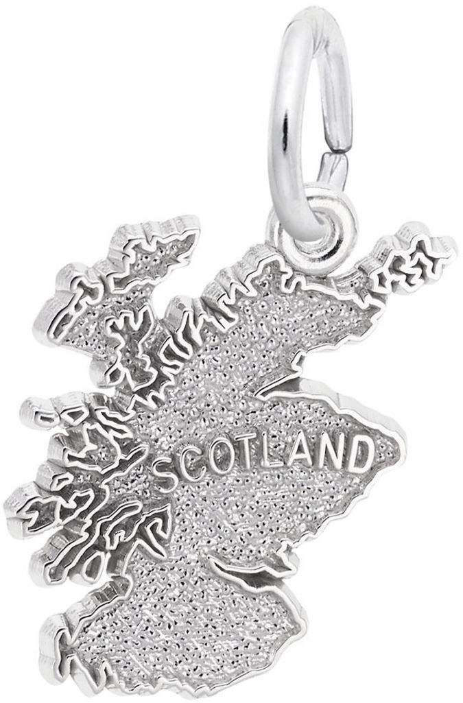 Scotland Map Charm (Choose Metal) by Rembrandt