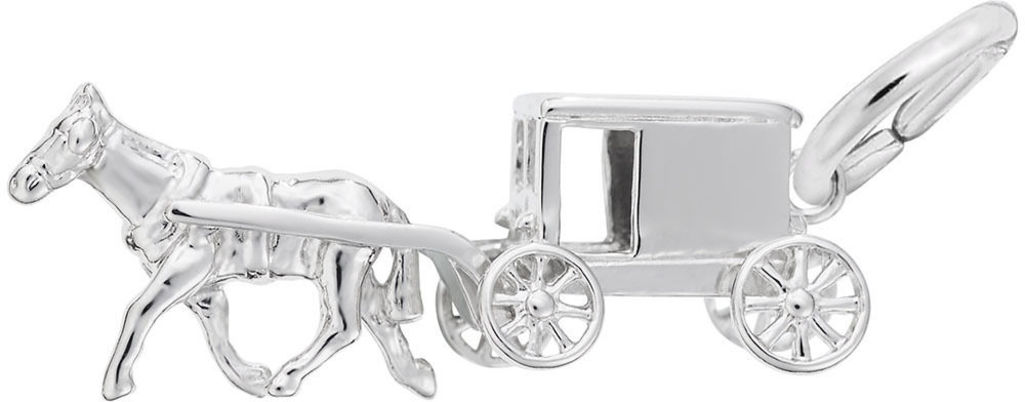 Amish Wagon Charm (Choose Metal) by Rembrandt