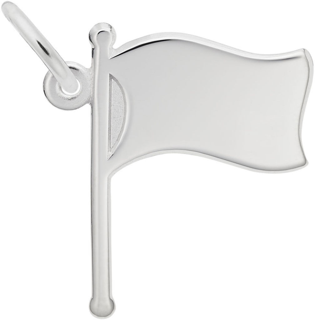 Waving Flag Charm (Choose Metal) by Rembrandt