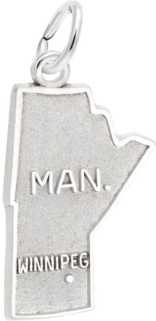 Manitoba Map Charm (Choose Metal) by Rembrandt