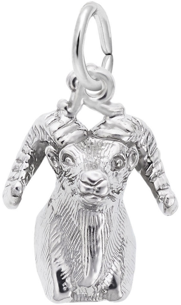 Big Horn Sheep Head Charm (Choose Metal) by Rembrandt