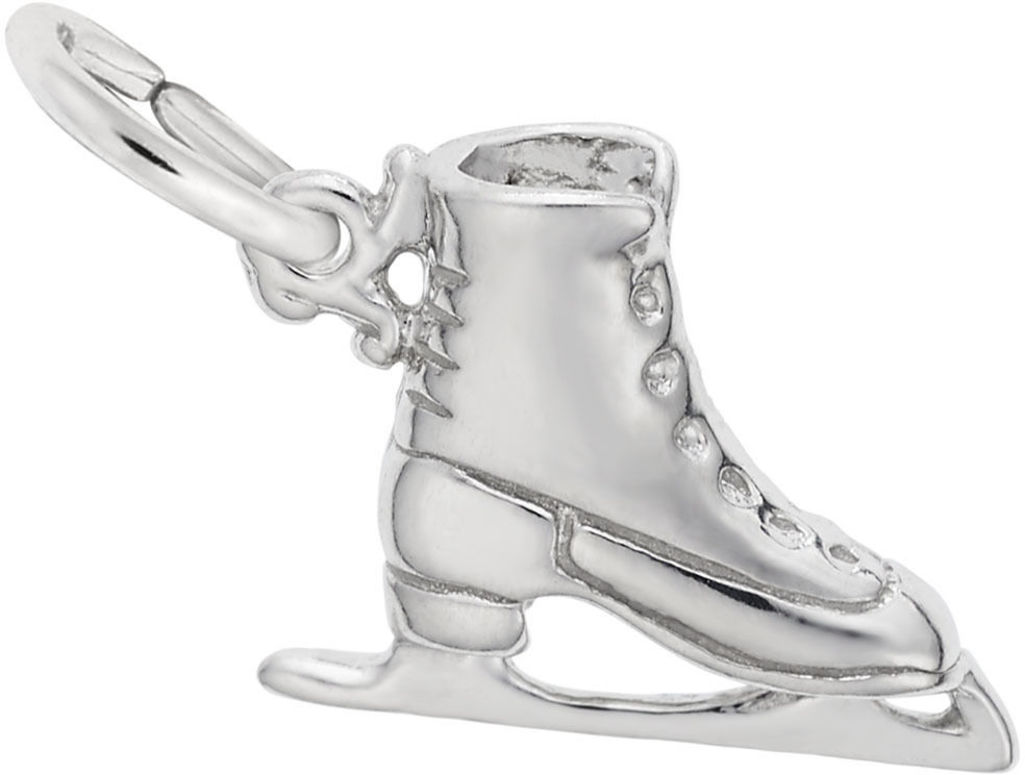 Ice Skate Charm (Choose Metal) by Rembrandt
