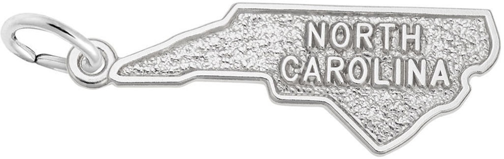 North Carolina Map Charm (Choose Metal) by Rembrandt