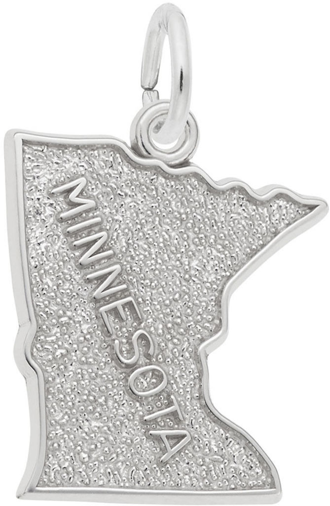 Minnesota Map Charm (Choose Metal) by Rembrandt