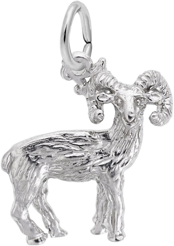 Big Horn Sheep Charm (Choose Metal) by Rembrandt
