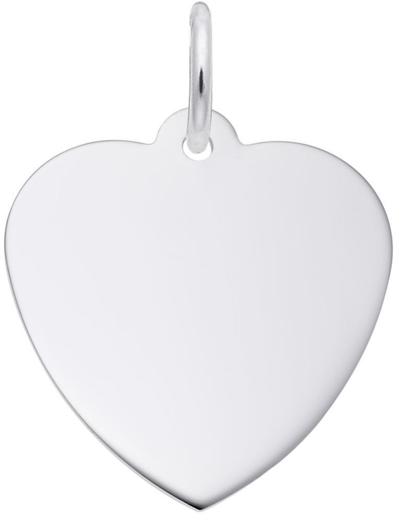 Small Classic Heart Charm (Choose Metal) by Rembrandt