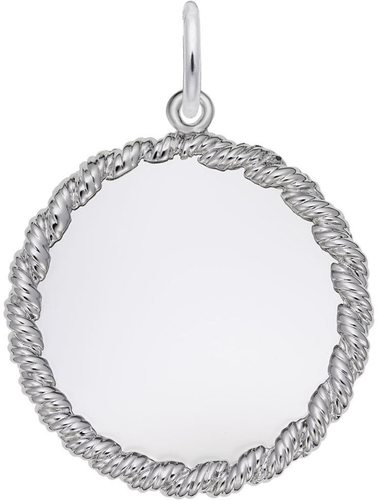 Medium Twisted Rope Charm (Choose Metal) by Rembrandt