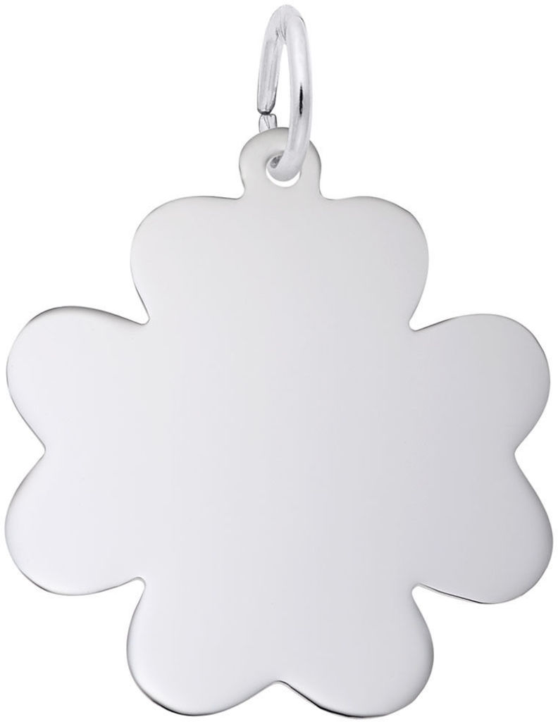 Flat Clover Charm (Choose Metal) by Rembrandt