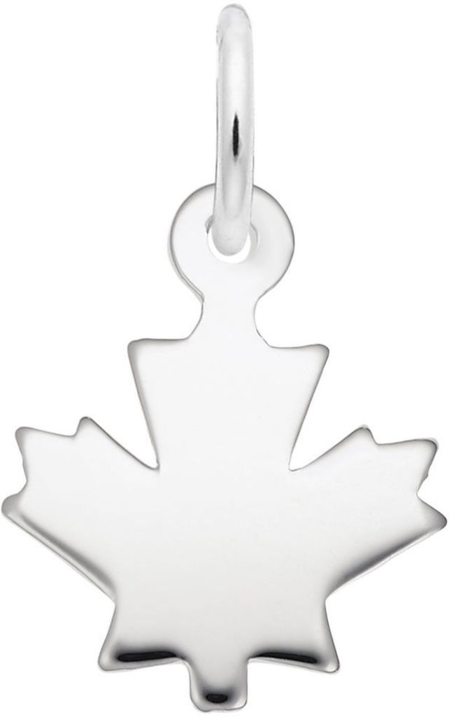 Classic Flat Maple Leaf Charm (Choose Metal) by Rembrandt