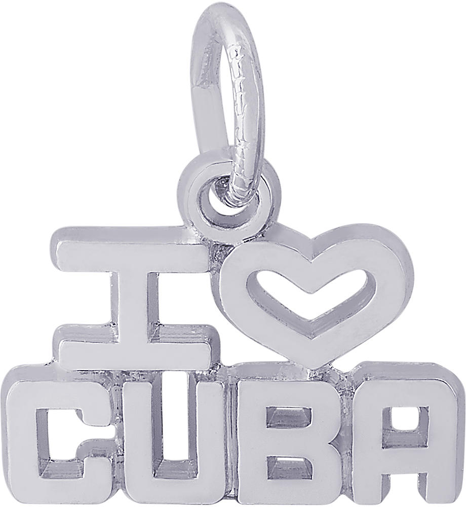 I Love Cuba Charm (Choose Metal) by Rembrandt