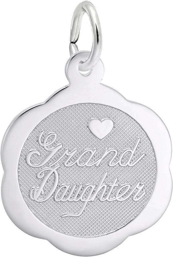 Granddaughter Charm (Choose Metal) by Rembrandt