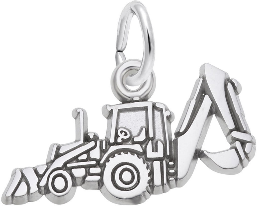 Backhoe Charm (Choose Metal) by Rembrandt