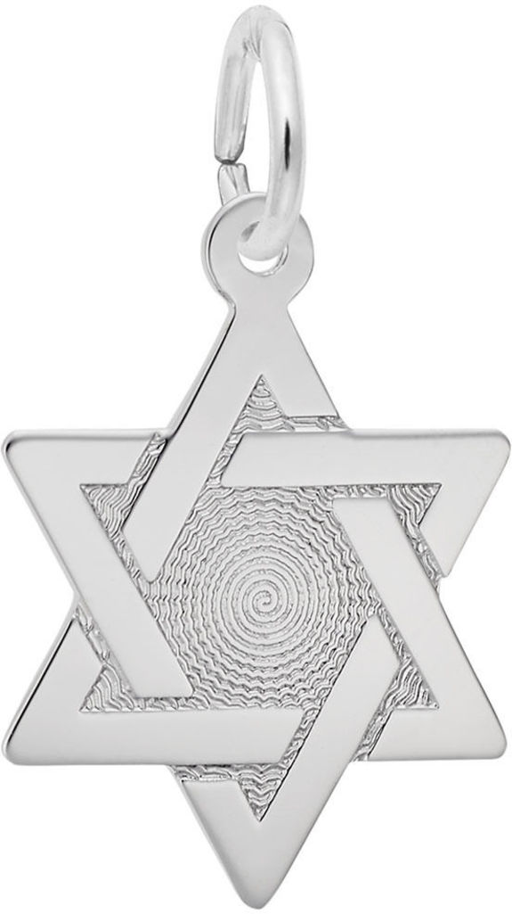 Star of David w/ Brocade Center Charm (Choose Metal) by Rembrandt