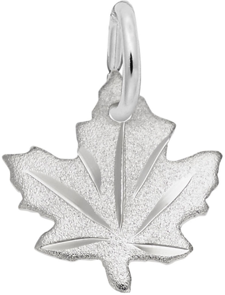 Maple Leaf - Satin Charm (Choose Metal) by Rembrandt