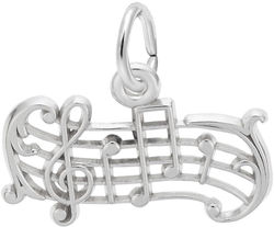 Music Staff Charm (Choose Metal) by Rembrandt