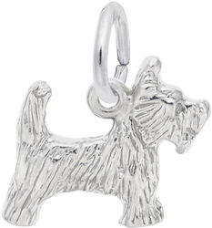 Small Scottie Dog Charm (Choose Metal) by Rembrandt