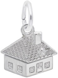 Detailed House Charm (Choose Metal) by Rembrandt