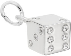 Detailed Dice Charm (Choose Metal) by Rembrandt