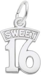Sweet 16 Charm (Choose Metal) by Rembrandt