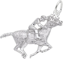 Horse & Jockey Charm (Choose Metal) by Rembrandt