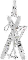 Skis Charm (Choose Metal) by Rembrandt