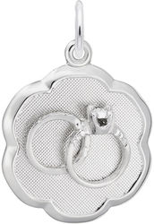 Elegant Wedding Rings Charm (Choose Metal) by Rembrandt