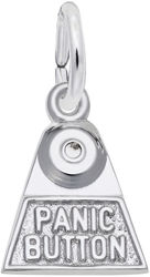 Panic Button Charm (Choose Metal) by Rembrandt