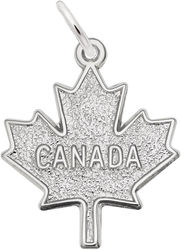 Flat Canada Maple Leaf Charm (Choose Metal) by Rembrandt