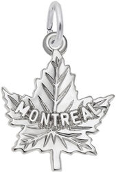 Montreal Maple Leaf Charm (Choose Metal) by Rembrandt