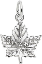Ottawa Maple Leaf Charm (Choose Metal) by Rembrandt
