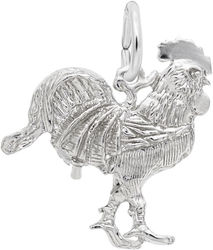 Rooster Charm (Choose Metal) by Rembrandt